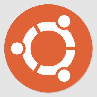 Ubuntu sticker circle