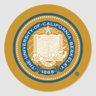 UC Berkeley School Seal Round Sticker