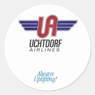 Uchtdorf Airlines. Round sticker