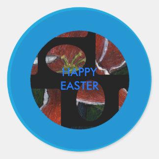 !UCreate Happy Easter Round Sticker