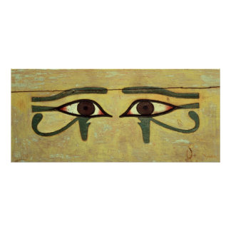 Udjat Eyes on a Coffin, Middle Kingdom Poster