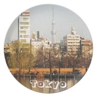 Ueno Park in Tokyo, Japan Plate