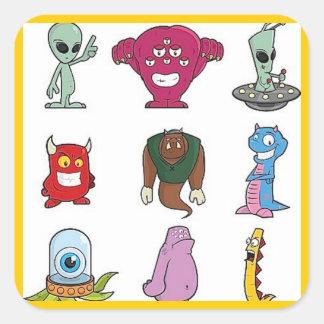 UFO1 SQUARE STICKERS