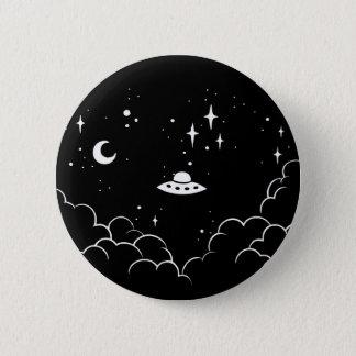Ufo 6 Cm Round Badge