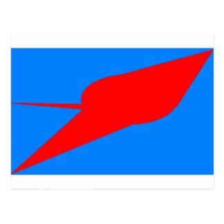 UFO!  A logo or design depicting a UFO sighting Postcard