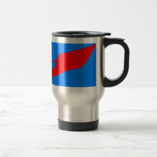 UFO!  A logo or design depicting a UFO sighting Stainless Steel Travel Mug