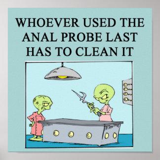 ufo abduction joke poster