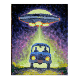UFO Alien Abduction Poster