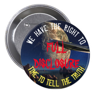 UFO and Alien Full Disclosure Button