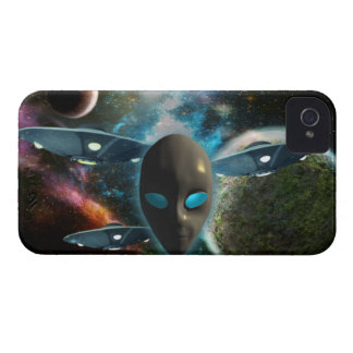 UFO And Alien iPhone 4 Case-Mate Case