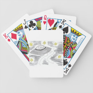 UFO Birthday Bicycle Playing Cards