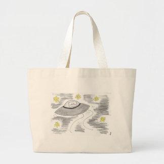 UFO Birthday Large Tote Bag