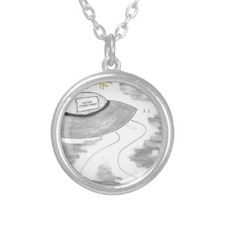 UFO Birthday Silver Plated Necklace