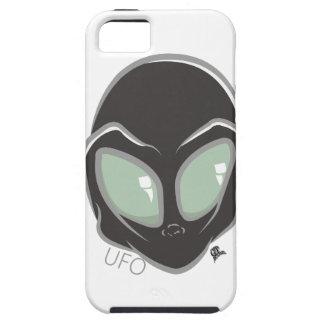 UFO Black Galactic Martian Alien Head iPhone 5 Case