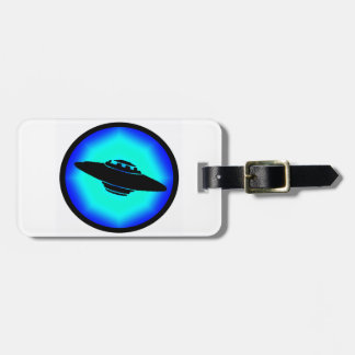 UFO BLUE SKIES LUGGAGE TAG