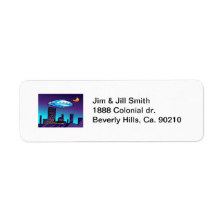 UFO City Return Address Label