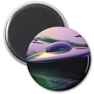 UFO classic 6 Cm Round Magnet