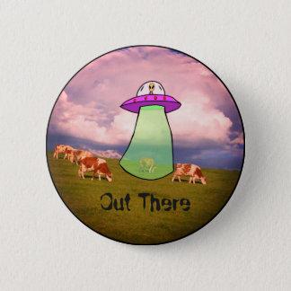 UFO Cow Tractor Beam Alien Badge