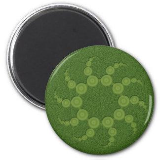 UFO Crop Circles 6 Cm Round Magnet