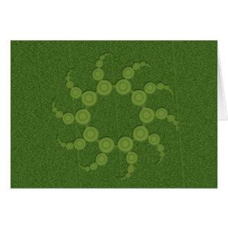 UFO Crop Circles Card