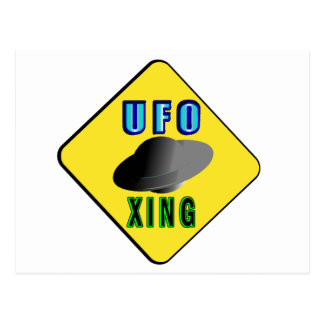UFO Crossing Postcard