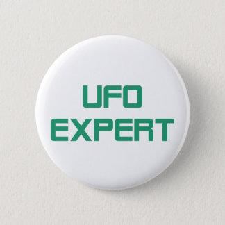 Ufo expert 6 cm round badge