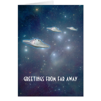 "UFO ""Far Away"" Greeting Card"