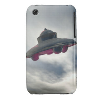 UFO Flying Through Clouds iPhone 3 Case-Mate Cases