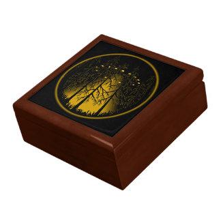 UFO Gift Wood Box Personalized U.F.O Pot Box Large Square Gift Box