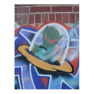 UFO Graffiti 02 Postcard