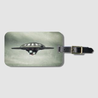 UFO Grunge Luggage Tag