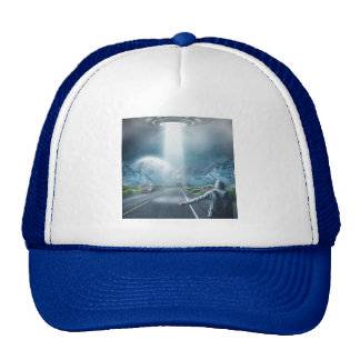 UFO Hitchhiker trucker hats