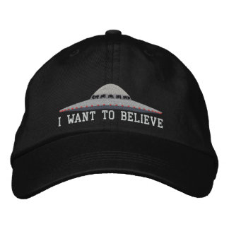 UFO I WANT TO BELIEVE BASEBALL HAT