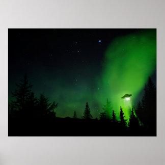 UFO in Alaskan skies Poster