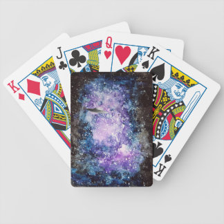 UFO in space artwork Bicycle Playing Cards