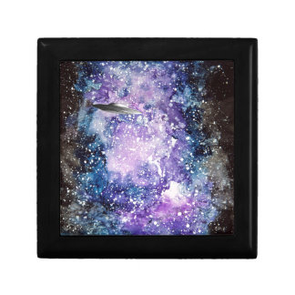 UFO in space artwork Gift Box