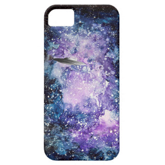 UFO in space artwork iPhone 5 Cases