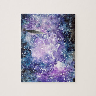 UFO in space artwork Jigsaw Puzzle