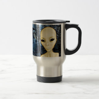 UFO Invasion Alien Greys Coffee Mug