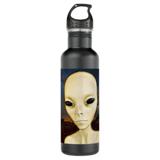 UFO Invasion Alien Greys Water Bottle