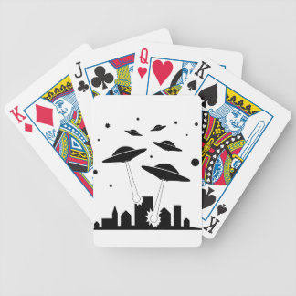 UFO Invasion Bicycle Playing Cards