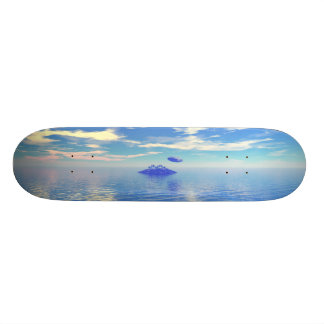 UFO Island 18.1 Cm Old School Skateboard Deck