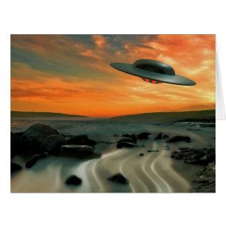 UFO Over Coast Card