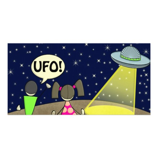 ufo photo greeting card