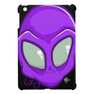 UFO Purple Alien Martian Head Cute Cover For The iPad Mini