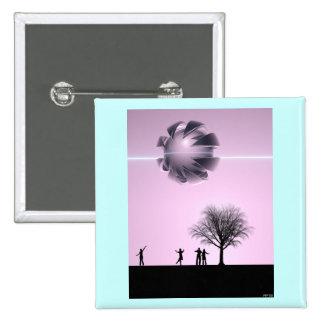 UFO Sighting 15 Cm Square Badge
