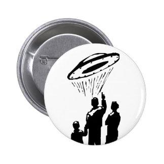 UFO Sighting 6 Cm Round Badge