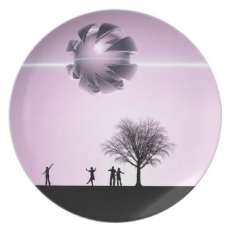 UFO Sighting Party Plate