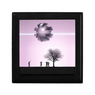 UFO Sighting Small Square Gift Box