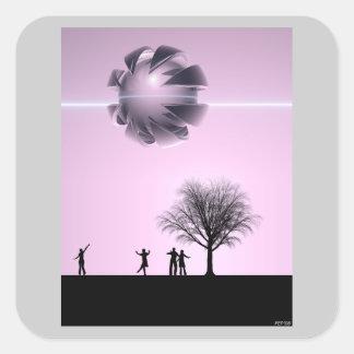 UFO Sighting Square Sticker